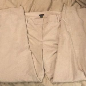 Ann Taylor size 14 cream lined pants